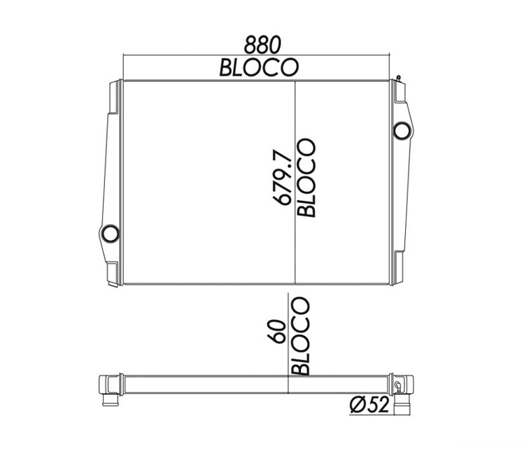 BLOCO COLMEIA DO VOLVO BE 250574